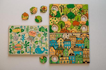Drevené puzzle DOTO - Život