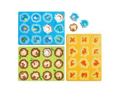 Drevené puzzle DOTO - Objekty