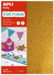 EVA FOAM Trblietavé - 4 ks (červená,zelená,strieborná,zlatá)
