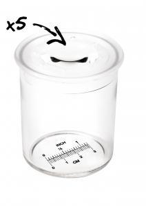 Nádoba s lupou na meranie hmyzu - 12 ks