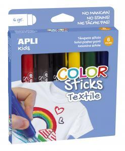 Temperové farbičky na textil 6 ks